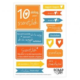 10 dolog, amiért szeretlek | kivágóív – narancs citrom kék