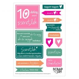 10 dolog, amiért szeretlek | kivágóív – pink narancs zöld