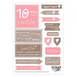 10 dolog, amiért szeretlek | kivágóív – rózsaszín barna