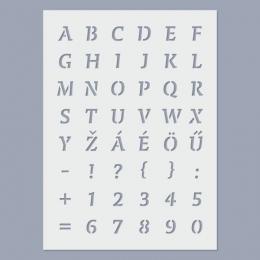 ABC stencil  (nagybetűk és számok)