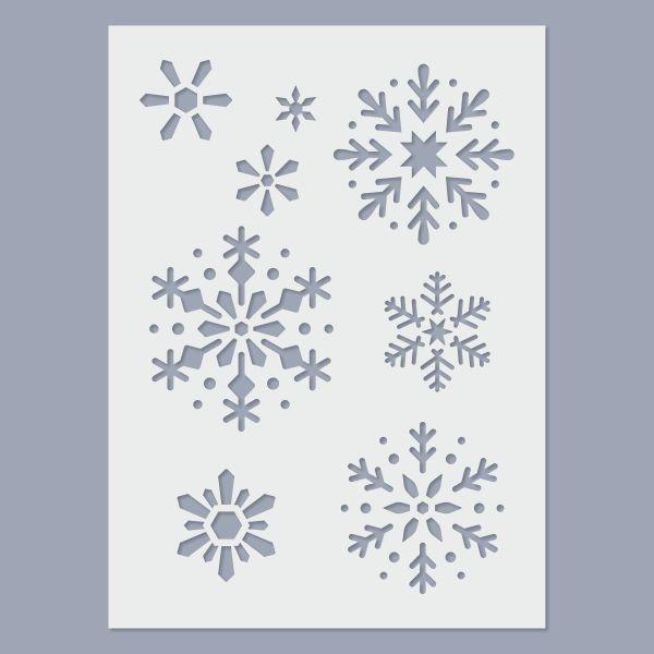 Hópehely stencil