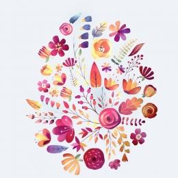 Őszi virágok | papír díszítőelem készlet