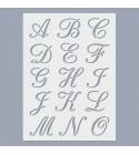 ABC Calligraphy stencil  (nagybetűk)