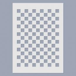 Nagy sakktábla stencil
