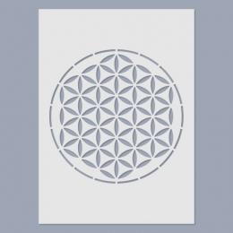 Mandala – Élet virága stencil