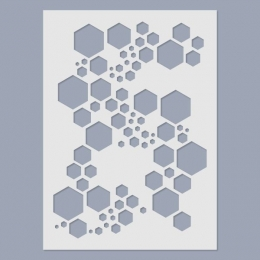 Super Hexagon stencil