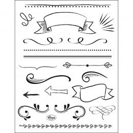 Rajzolt motívumok szilikon nyomda 14 x 18 cm