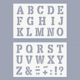 Nagy ABC stencil (nagybetűk)