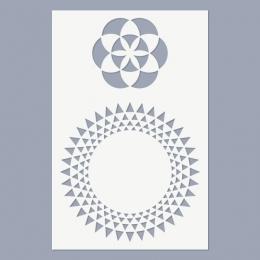 Mandala – Élet magja stencil