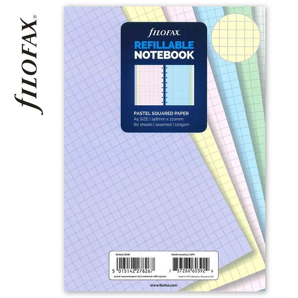 A5 négyzethálós pasztell jegyzetlap | Filofax Notebook