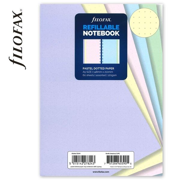 A5 ponthálós pasztell jegyzetlap | Filofax Notebook