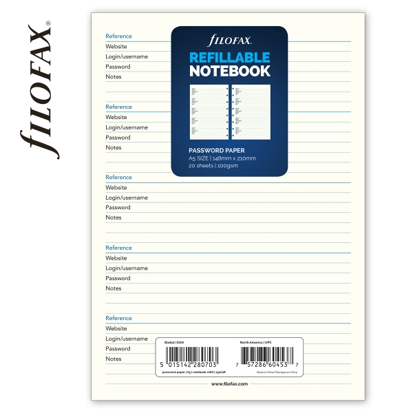 A5 jelszólista | Filofax Notebook