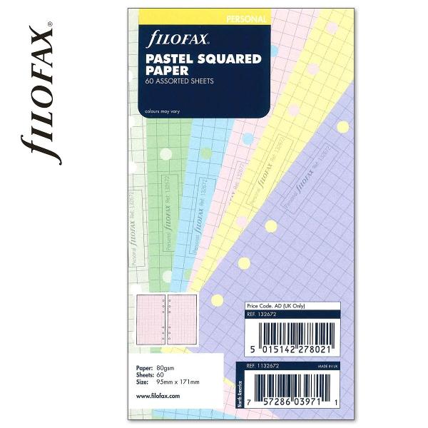 Personal négyzethálós jegyzetlap pasztell színű   Filofax