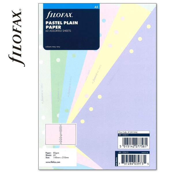 A5 üres jegyzetlap pasztell színű | Filofax