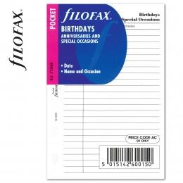 Pocket Születésnap tervező fehér | Filofax