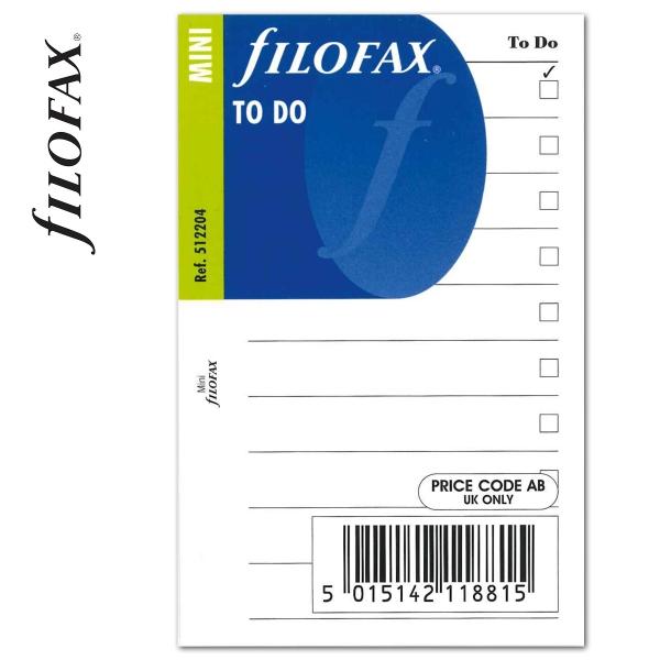 Pocket Tennivalók lista fehér   Filofax