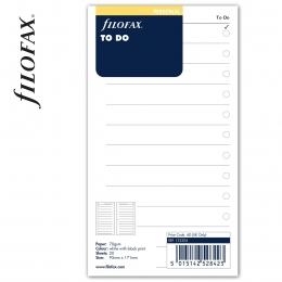 Personal Tennivalók lista fehér | Filofax