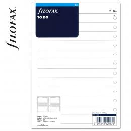 A5 Tennivalók lista fehér | Filofax