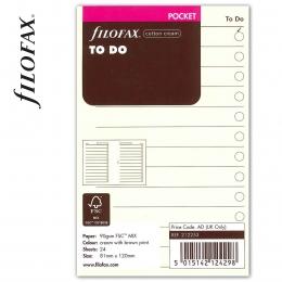 Pocket Tennivalók lista bézs | Filofax