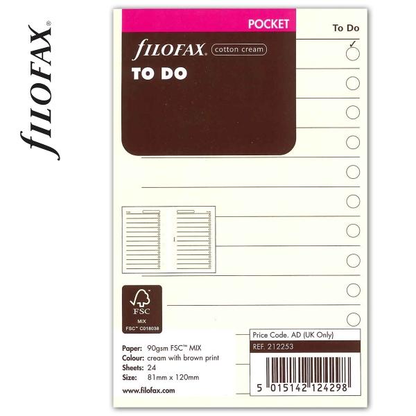 Pocket Tennivalók lista bézs   Filofax