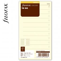 Personal Tennivalók lista bézs | Filofax