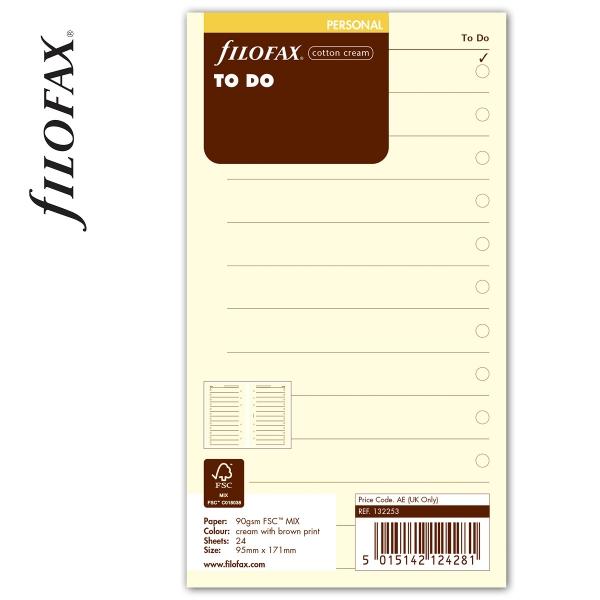 Personal Tennivalók lista bézs   Filofax