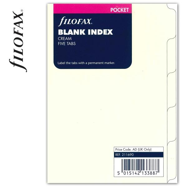 Pocket elválasztó lap bézs | Filofax