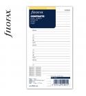 Personal Kontakt lista fehér   Filofax