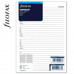 A5 Kontakt lista fehér | Filofax