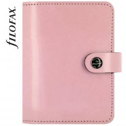 Rózsaszín lakkbőr Pocket Filofax Original határidőnapló