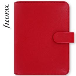 Piros Pocket Filofax Saffiano határidőnapló