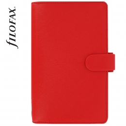 Piros Personal Compact Filofax Saffiano határidőnapló