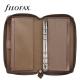 Barna Personal Compact Zip Filofax Saffiano határidőnapló