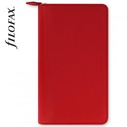 Piros Personal Compact Zip Filofax Saffiano határidőnapló