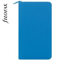 Pink Personal Compact Zip Filofax Saffiano Fluoro határidőnapló