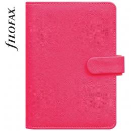 Pink Personal Filofax Saffiano Fluoro határidőnapló
