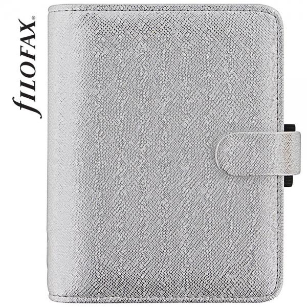 Ezüst Pocket Filofax Saffiano Metallic határidőnapló
