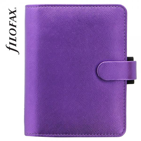 Lila Pocket Filofax Saffiano Metallic határidőnapló