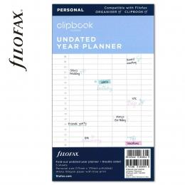 Éves Personal Filofax Clipbook naptárbetét dátum nélküli