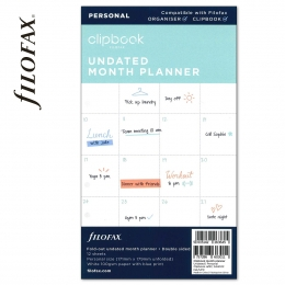 Havi Personal Filofax Clipbook naptárbetét dátum nélküli