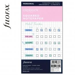 Personal négyzethálós jegyzetlap fehér | Filofax Clipbook