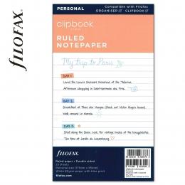 Personal Vonalas jegyzetlap fehér | Filofax Clipbook