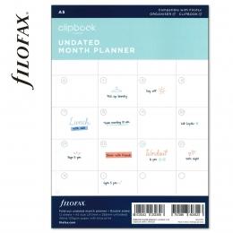A5 havi naptárbetét dátum nélkül | Filofax Clipbook