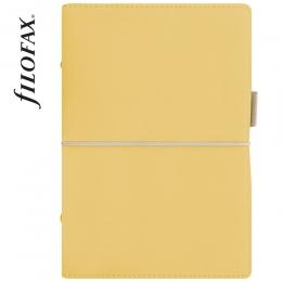 Sárga  Personal Filofax Domino Soft határidőnapló
