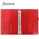 Piros Personal Filofax Domino Luxe határidőnapló