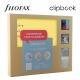 Sárga A5 Clipbook Kreatív készlet   Filofax gyűrűs füzet
