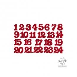 Piros adventi filc számok