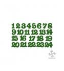 Zöld adventi filc számok
