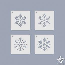 Hópehely Mini Stencil 09