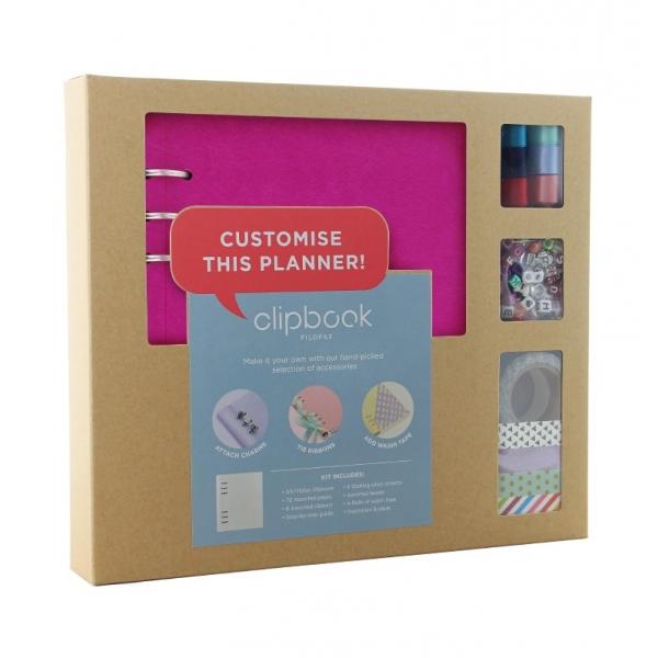Fukszia A5 Clipbook Kreatív készlet | Filofax gyűrűs füzet
